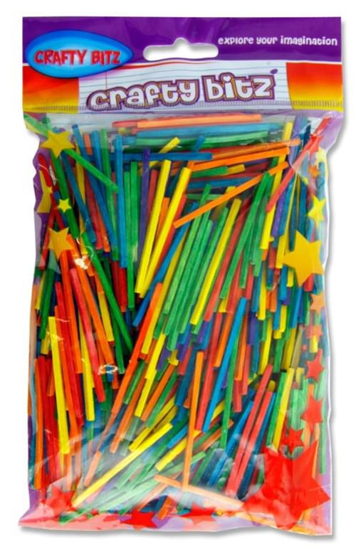 Crafty Bitz 75G Bag Matchsticks - Coloured