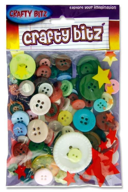 Crafty Bitz Asst Craft Buttons