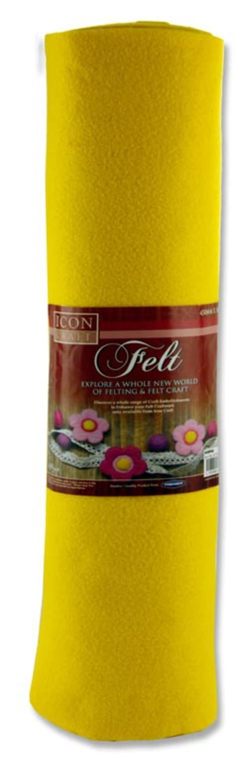 Icon Craft 45Cm X 5M Roll Felt - Yellow