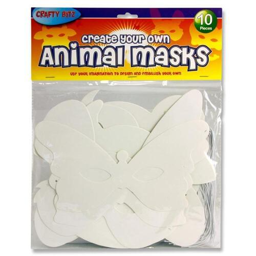 Crafty Bitz Pack of 10 Create Your Own Animal Masks