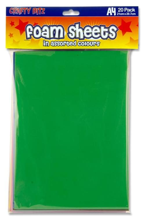 Crafty Bitz Pack of 20 A4 Foam Sheets
