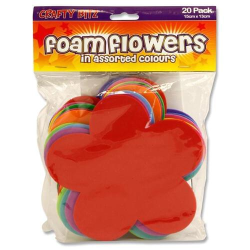 Crafty Bitz Pack of 20 Foam Sheets - Flowers