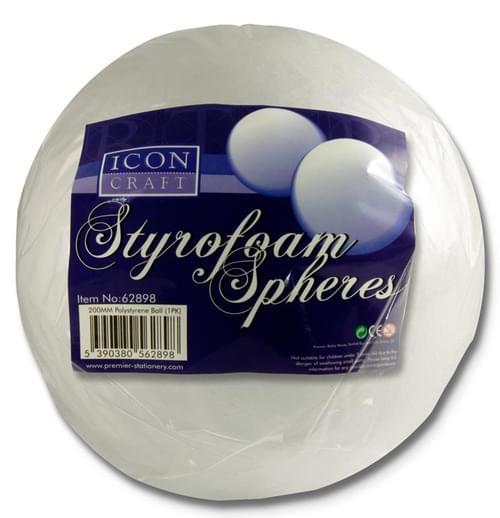 Icon Craft Styrofoam Sphere - 200Mm