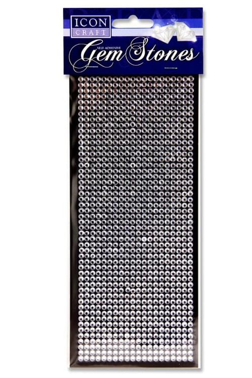 Icon Craft Card 1000 Self Adhesive Gem Stones - Silver