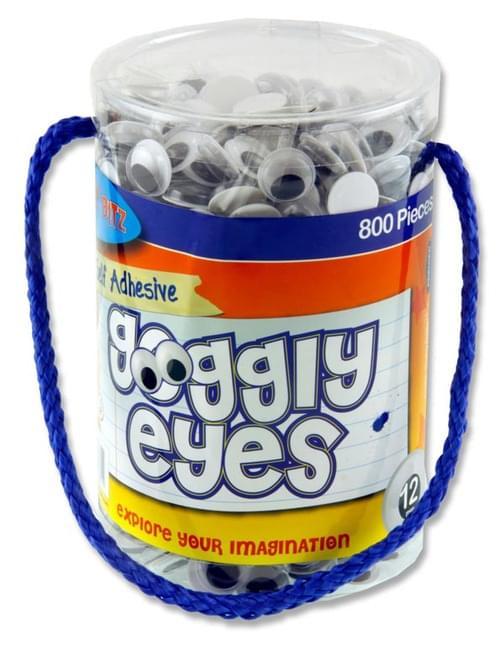 Crafty Bitz Tub 800 Self Adhesive Goggly Eyes - 12Mm