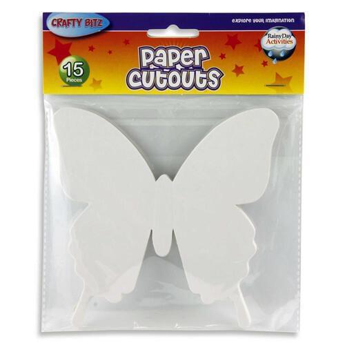 Crafty Bitz Pack of 15 Cutouts - Butterflies