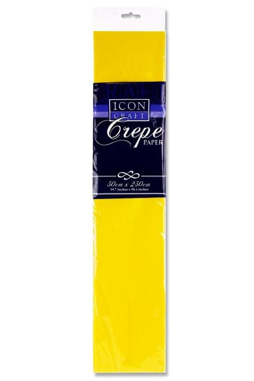 Icon Craft 50X250Cm 17Gsm Crepe Paper - Daffodil
