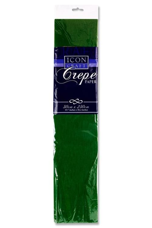 Icon Craft 50X250Cm 17Gsm Crepe Paper - Dark Green