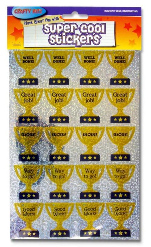 Crafty Bitz Super Cool Holographic Stickers - Champion