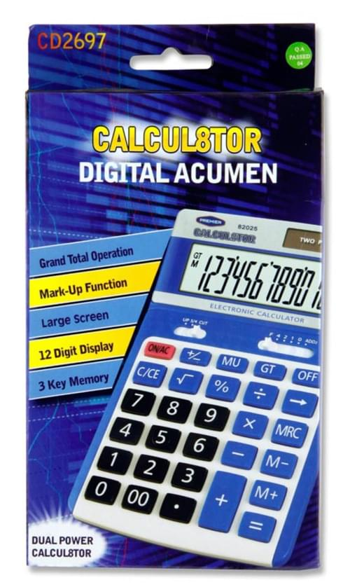 Calcul8Tor Cd-2697-12 12 Digit Desktop Calculator