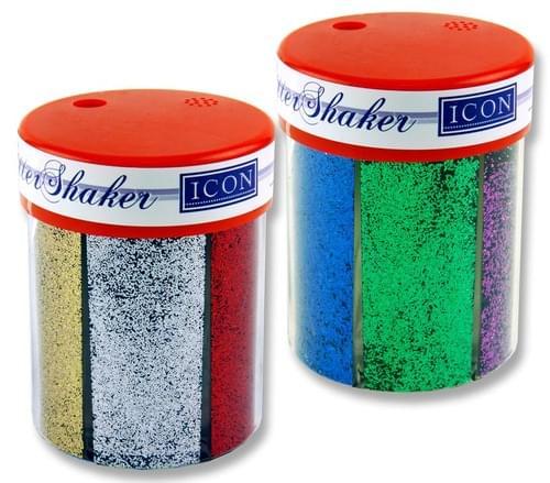 Icon 6 Part Glitter Shaker - Sparkling