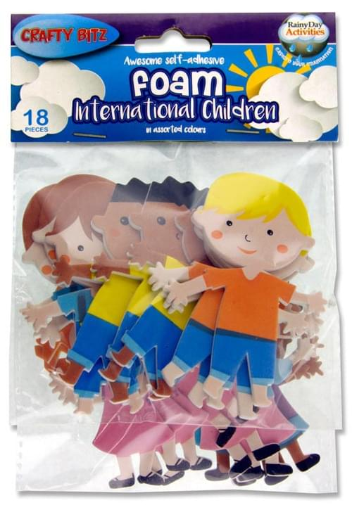 Crafty Bitz Pack of 18 Foam Stickers - International Children