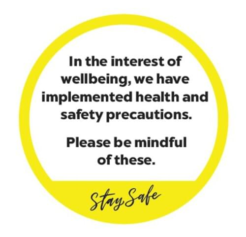 In The Interest of Safety - Window Sticker - Own Manufacturer - WDW1 - McArdle Computer & Office Supplies
