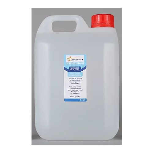 Hand Sanitiser 2.5 Litre Bottle - Star65