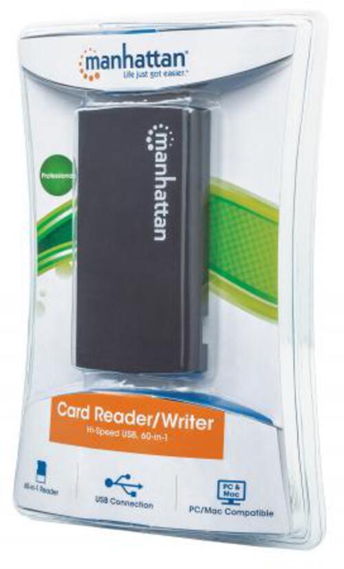 MH Card Reader USB 2.0 External 60 in 1 Black
