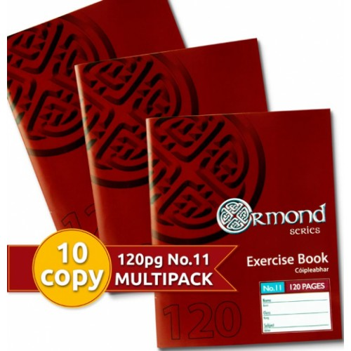 Ormond Pack of 10 120 Page  No.11  Exercise Copies
