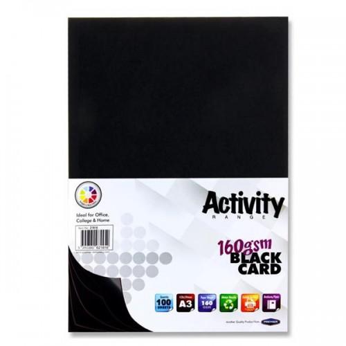 Premier Activity A3 160gsm Card 100 Sheets - Black