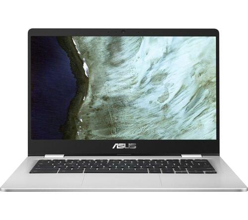 "Asus C423NA 14"" Intel Celeron Chromebook - 32 GB eMMC, Black & Silver"