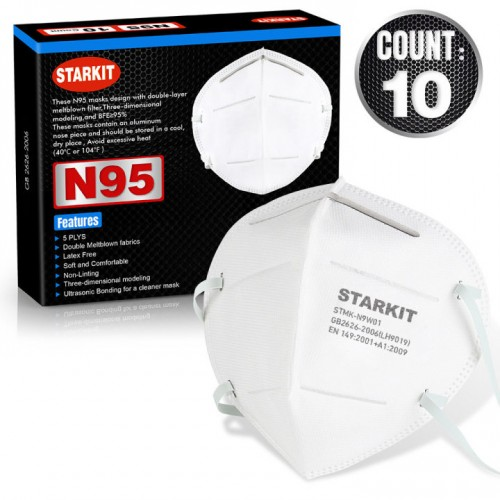 N95 Face Masks - Box of 10 Masks - CALL FOR BULK PRICING - From £34.99