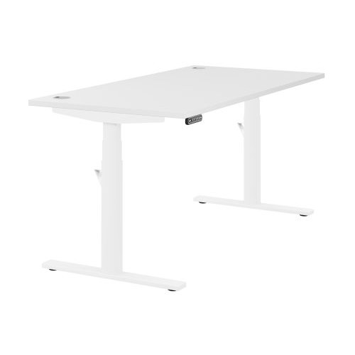 Leap Single Desk Top With Alu Portals, 1200 x 800mm - White / White Frame