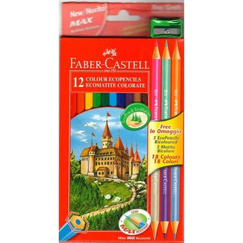 Faber Castell Colour Pencils box 12Full length
