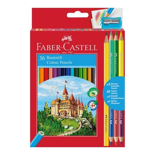 Faber Castell Colour Pencils box 36 Full length