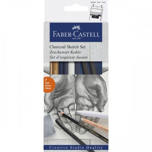 FABER CHARCOAL SKETCH SET 7pc