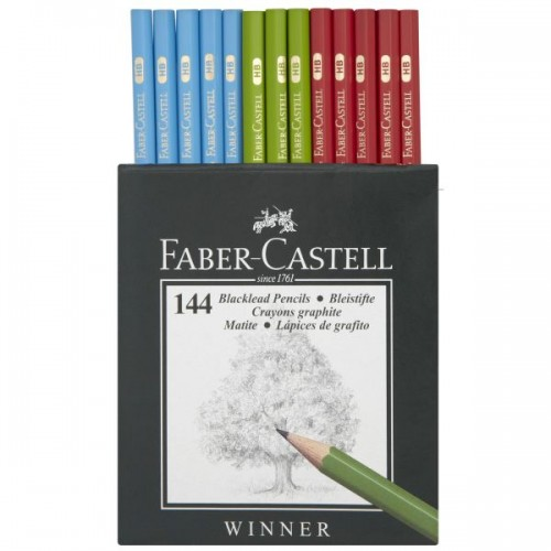 Faber HB Winner pencils box 144