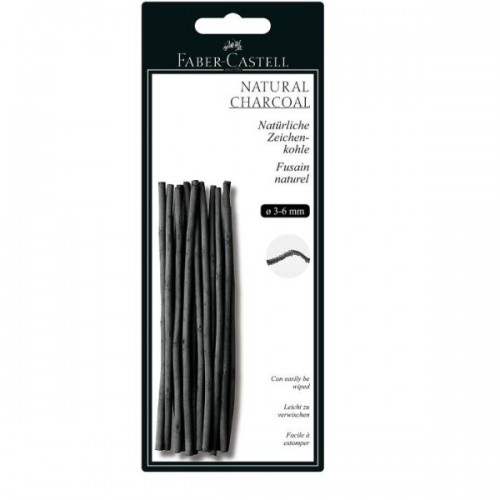 NATURAL CHARCOAL STICKS 3-6MM  BLISTER PACK