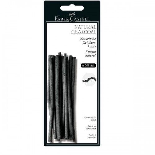 NATURAL CHARCOAL STICKS 5-8MM  BLISTER PACK