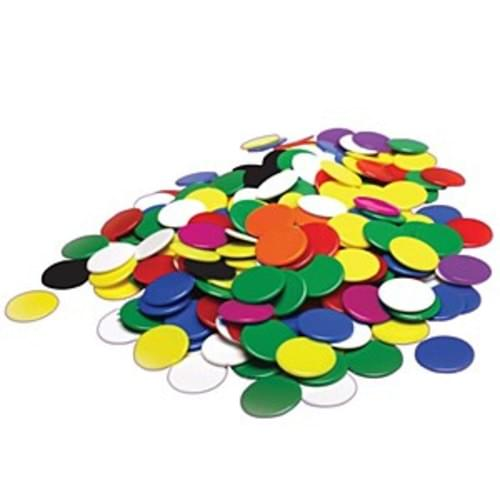 Assorted Counters 500, 25mm smooth