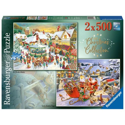 ravensburger christmas collection 2 x 500piece puzzles