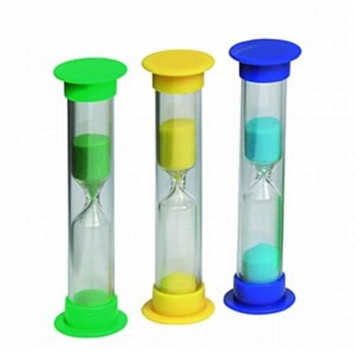 Sand timers 1.2and 3 minutes  pack 3