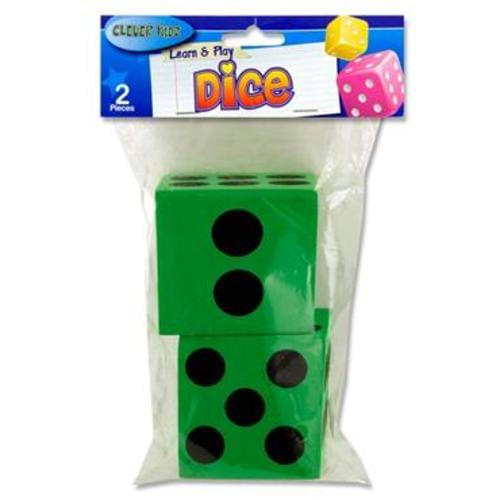 CLEVER KIDZ PKT.2 LEARN AND PLAY GIANT DICE