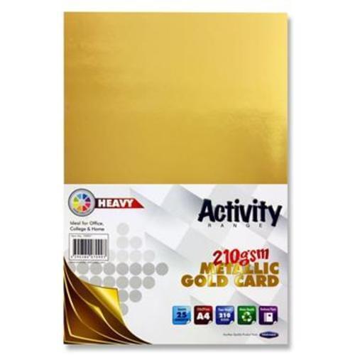 PREMIER A4 ACTIVITY CARD 25 SHEETS - GOLD