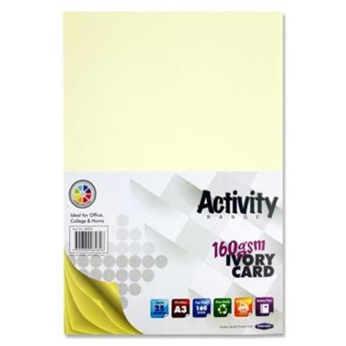 PREMIER A3 160gsm ACTIVITY CARD 25 SHEETS - IVORY