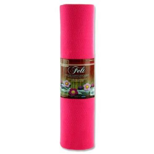 ICON CRAFT 45cm x 5m ROLL FELT - PINK