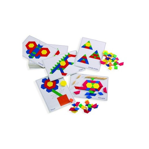 A4 Pattern cards (20) for use with pattern blocks