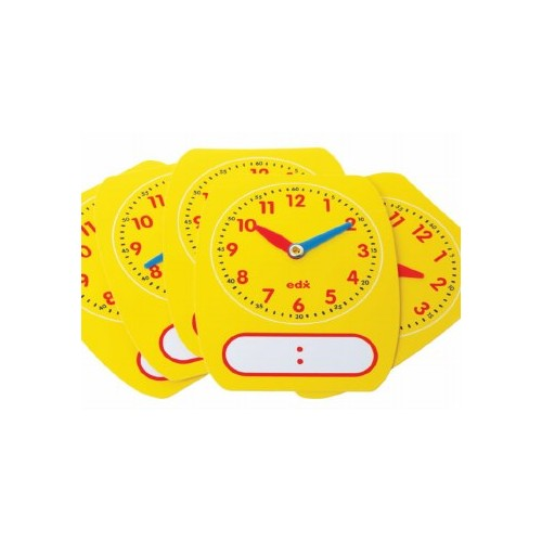 Write-On  Wipe-Off Clocks (5) Write-On Wipe-Off Clocks PACK 5