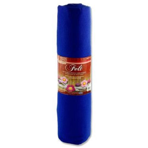 ICON CRAFT 45cm x 5m ROLL FELT - BLUE