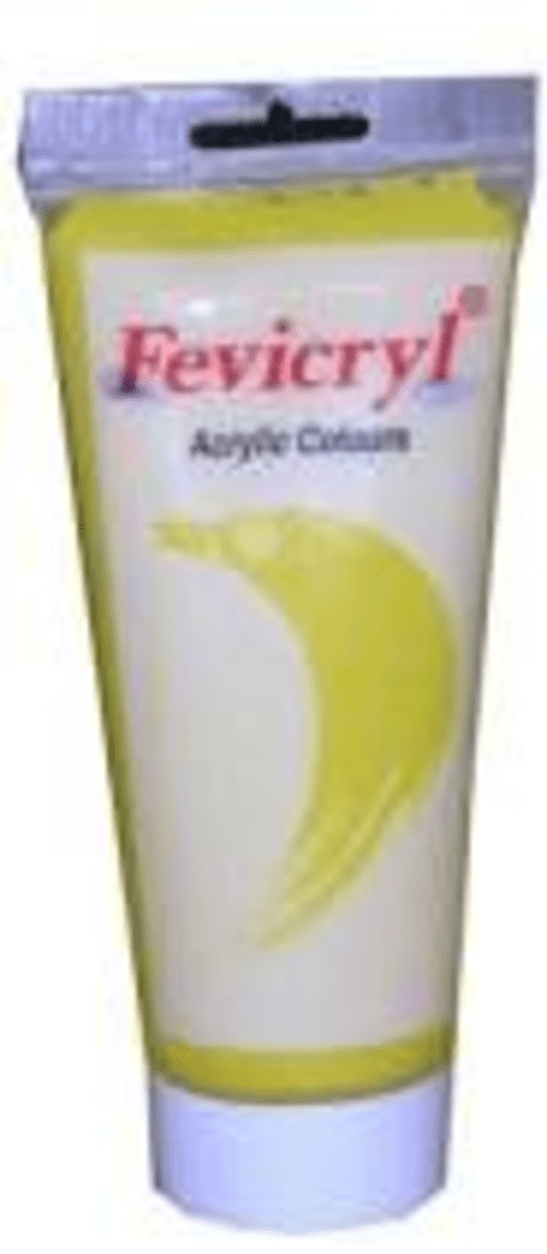 Yellow Fevicryl Acrylic Paint 200ml