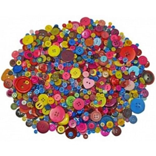 Craft Buttons 230gms ass shapes&sizes
