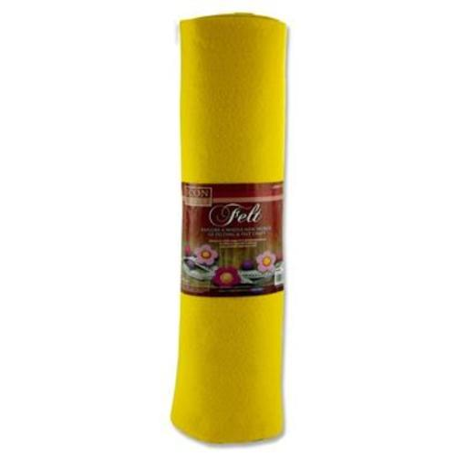 ICON CRAFT 45cm x 5m ROLL FELT - YELLOW