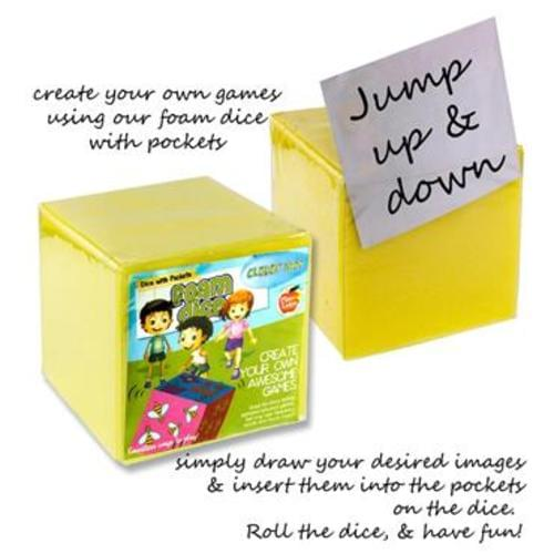 "CLEVER KIDZ 5"" CREATE YOUR OWN GAMES FOAM DICE"