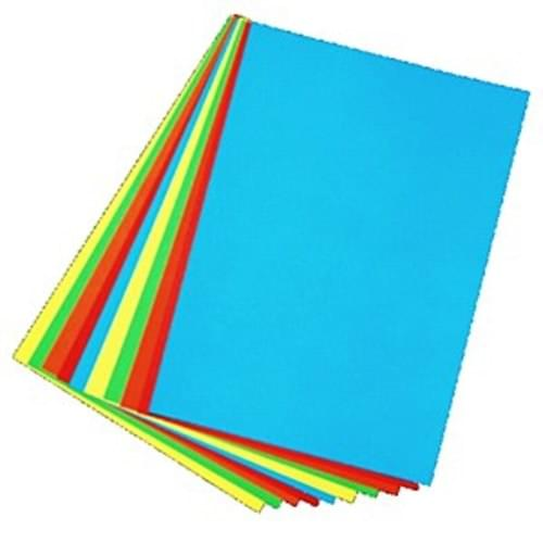 A3 ASSORTED COLOURED PAPER (BOLD) PACK 50