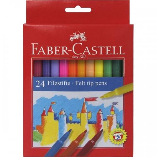 FABER REDLINE FIBRE TIP PENS BOX 24