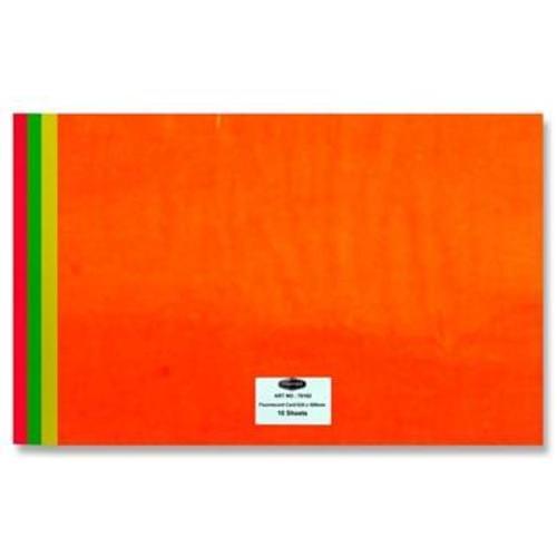 PREMIER A2 FLUORESCENT CARD 180gsm 4 ASST.