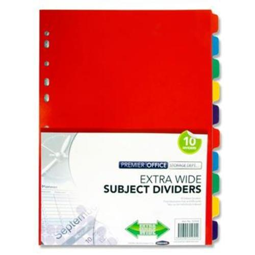 PREMIER OFFICE EXTRA WIDE SUBJECT DIVIDERS - 10 PART