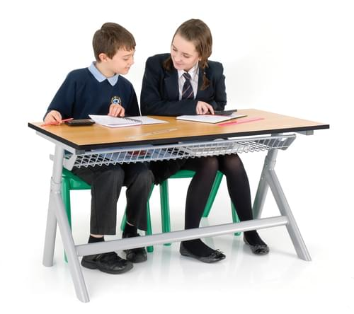TITAN HEIGHT ADJUSTABLE DOUBLE TABLE