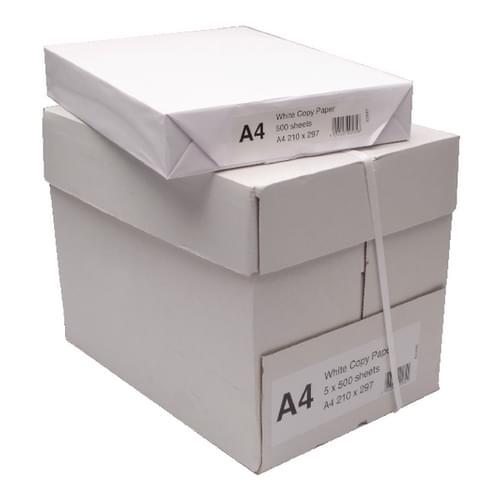 A4 Contract White paper, Box 5 Reams x 500